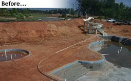 Outdoor Residential Pool at The Woodlands During Construction