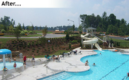 Outdoor Residential Pool at The Woodlands After Completion