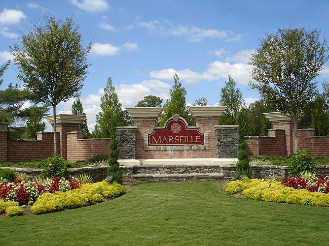 Image gallery neighborhood entrance designs for Entrance landscape design